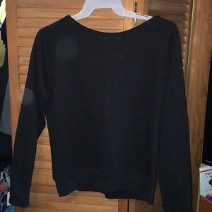 boxercraft Sweaters - Off the shoulder black sweater with pocket.